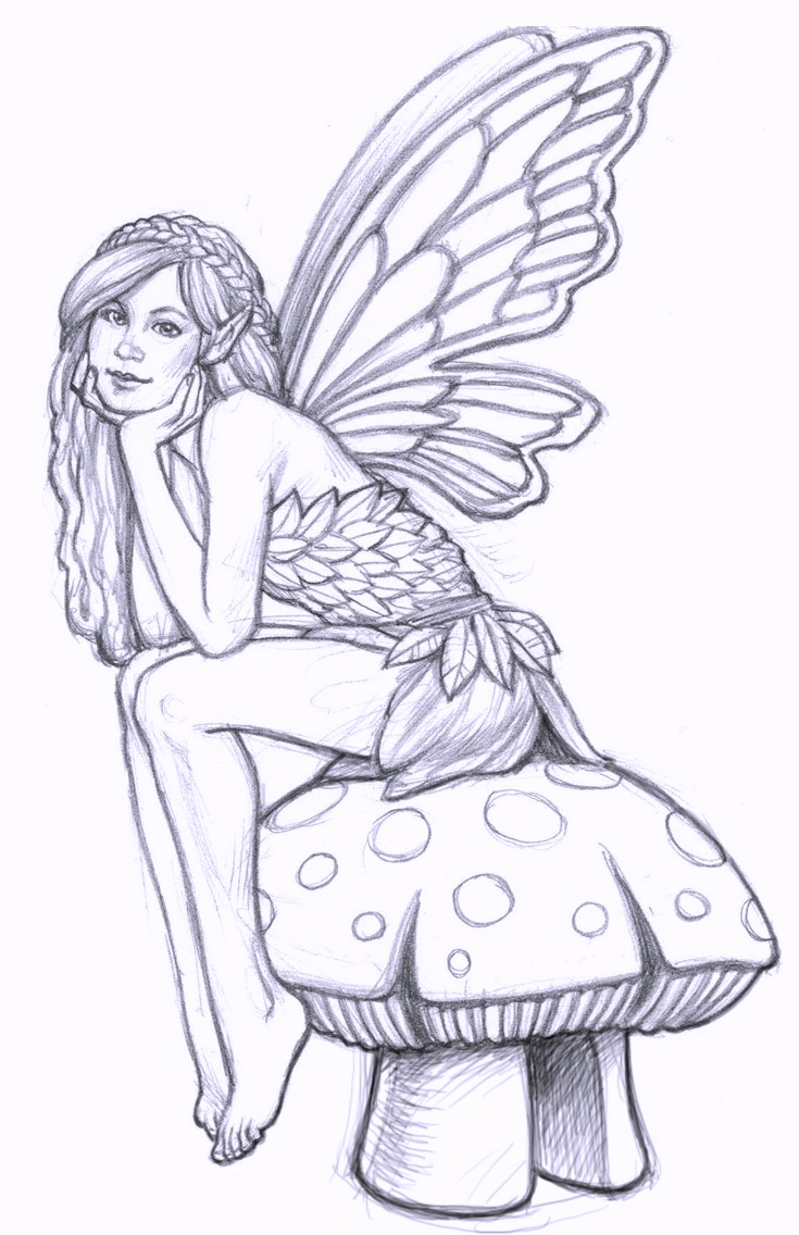 fairy coloring in pages coloring pages