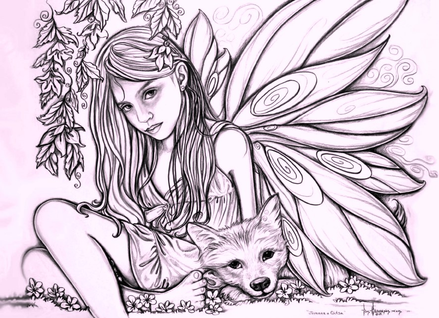 fairy-coloring-pages-for-adults-and-kids
