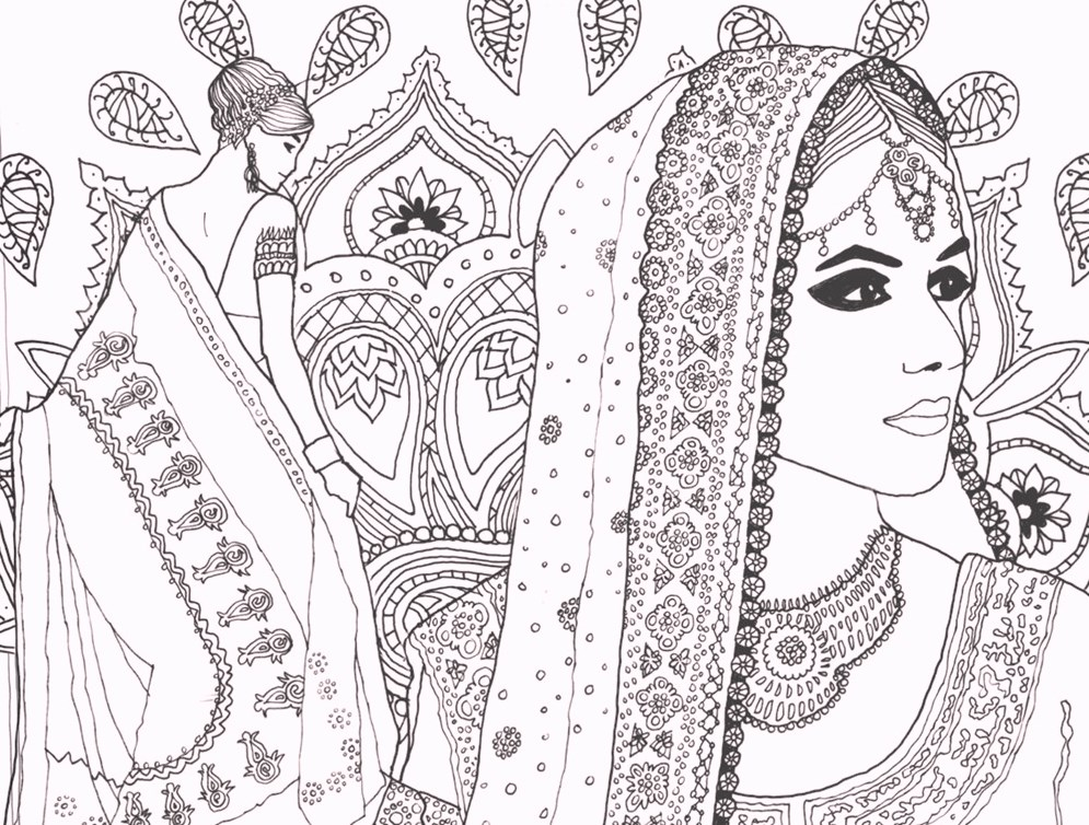 indian-fashion-carnival-coloring-pages