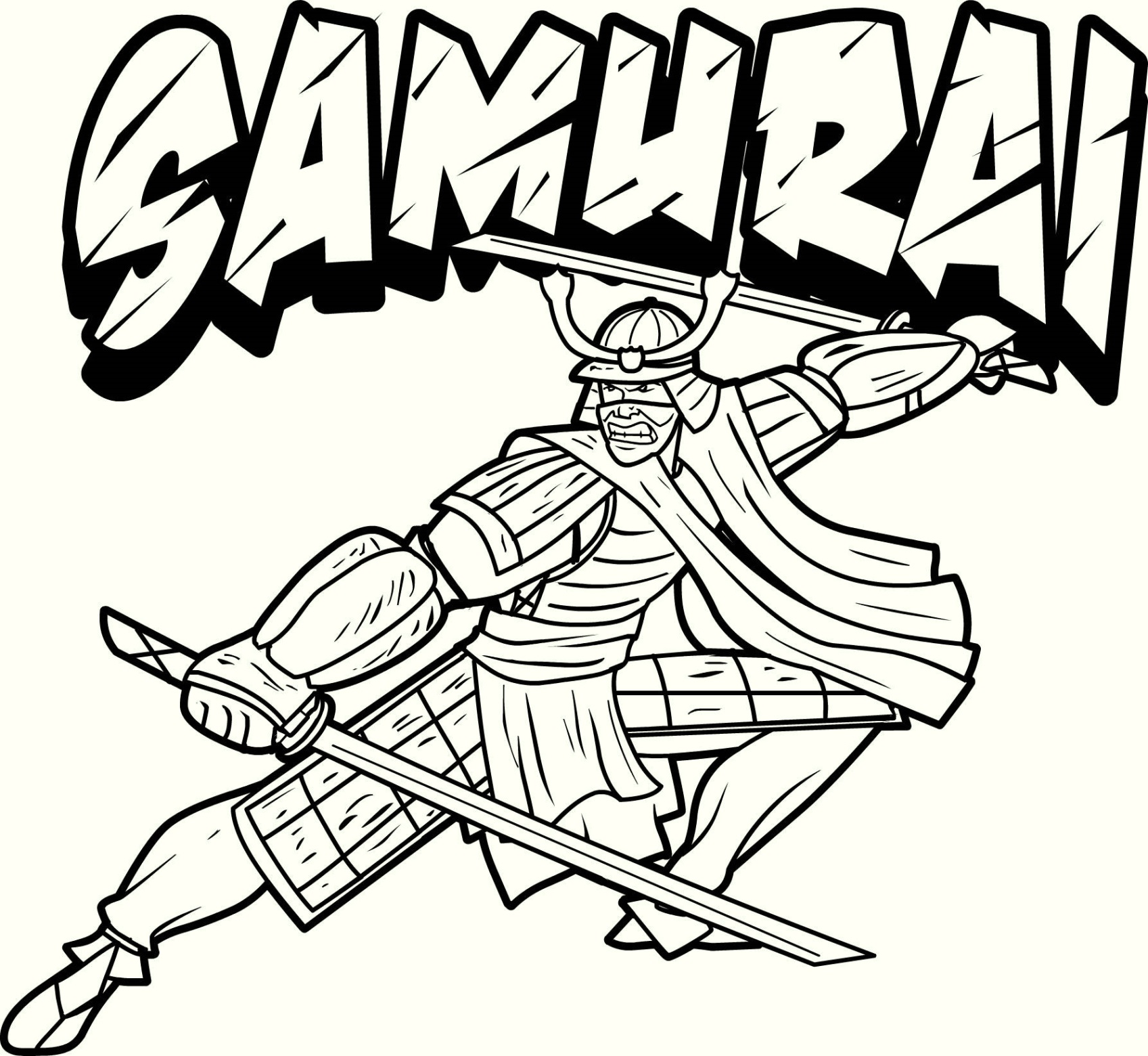 Japanese samurai coloring page Coloring book japan