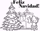 Feliz Navidad Coloring Pages Completed with Lyrics