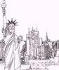 Landmarks in New York City Coloring Pages