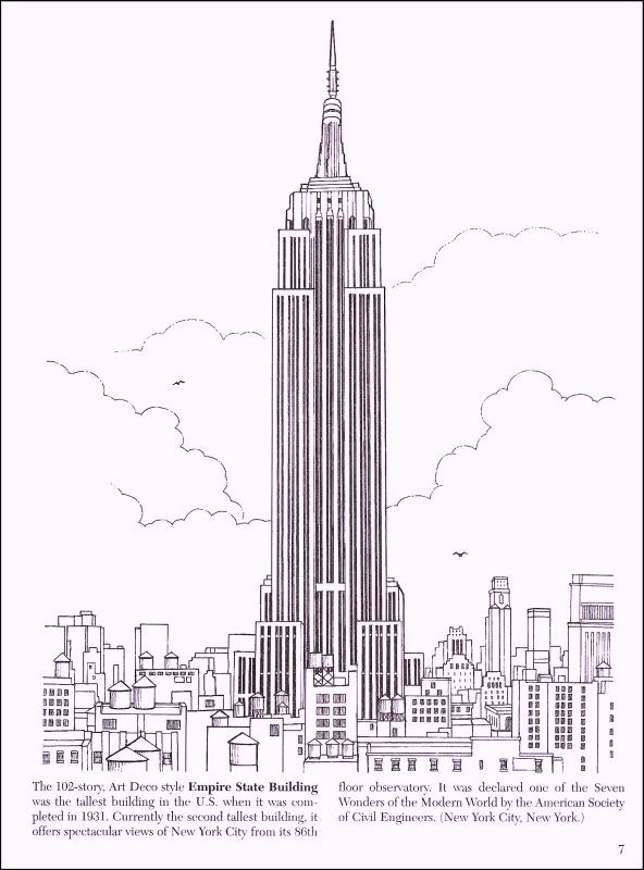 u s landmarks coloring pages - photo #13