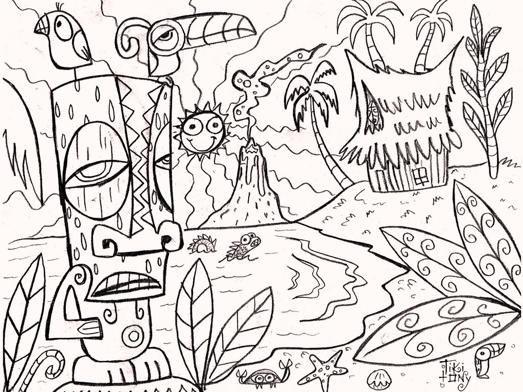 tiki-mask-living-coloring-pages