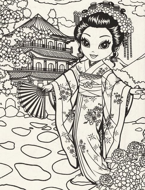 traditionaljapanesegirlcoloringpages