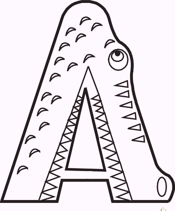 a-alphabet-crocodile-coloring-pages