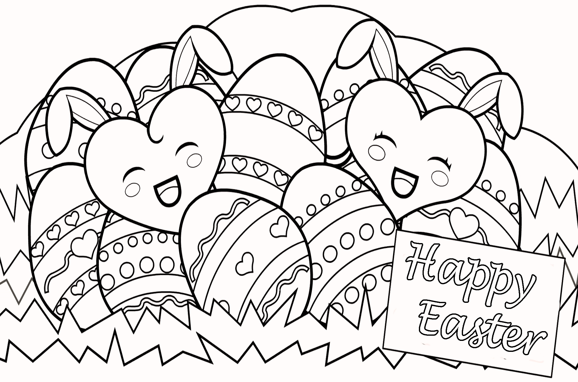 Free Easter Printable Coloring Pages 17
