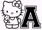 26 Hello Kitty Alphabet Coloring Pages
