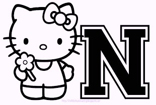 hello-kitty-alphabet-n-coloring-pages