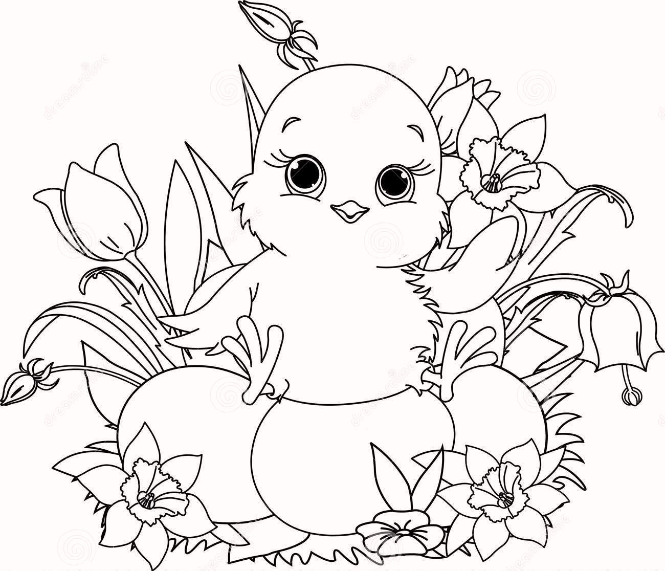 high-resolution-happy-easter-chick-coloring-page-to-print
