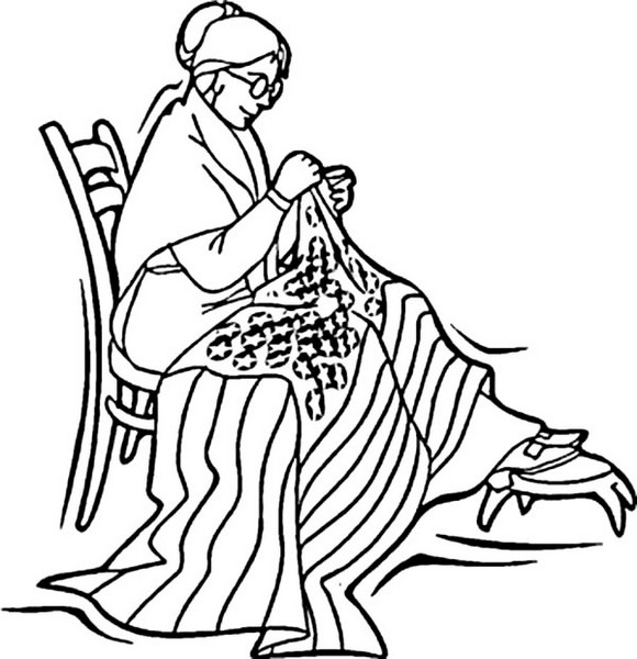 Betsy-Ross-Sewed-US-Flag-for-4th-July-Independence-Coloring-Page-For-Kids