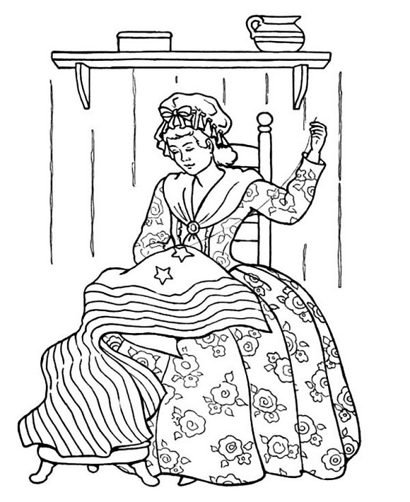 Printable-Sewing-US-Flag-Coloring-Pages