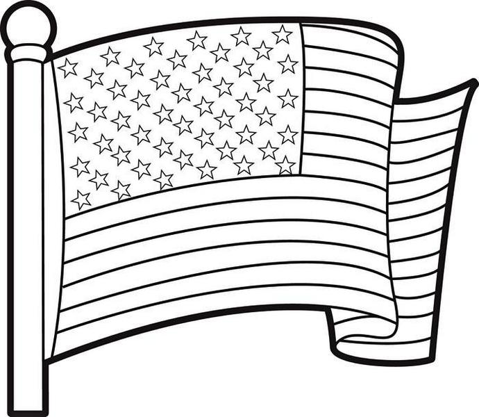 USA Flag Coloring Page and Her History for Students Coloring Pages
