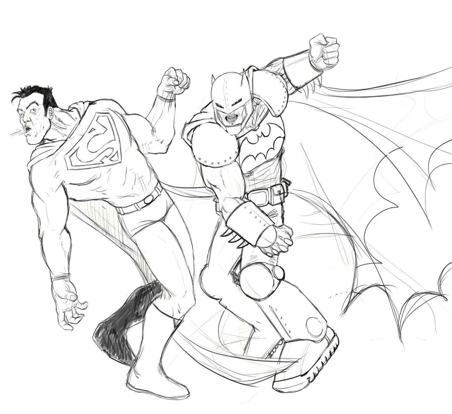 Batman and superman coloring pages for Super man coloring page
