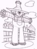 Fall Scarecrow Coloring Pages for Kids or Adults