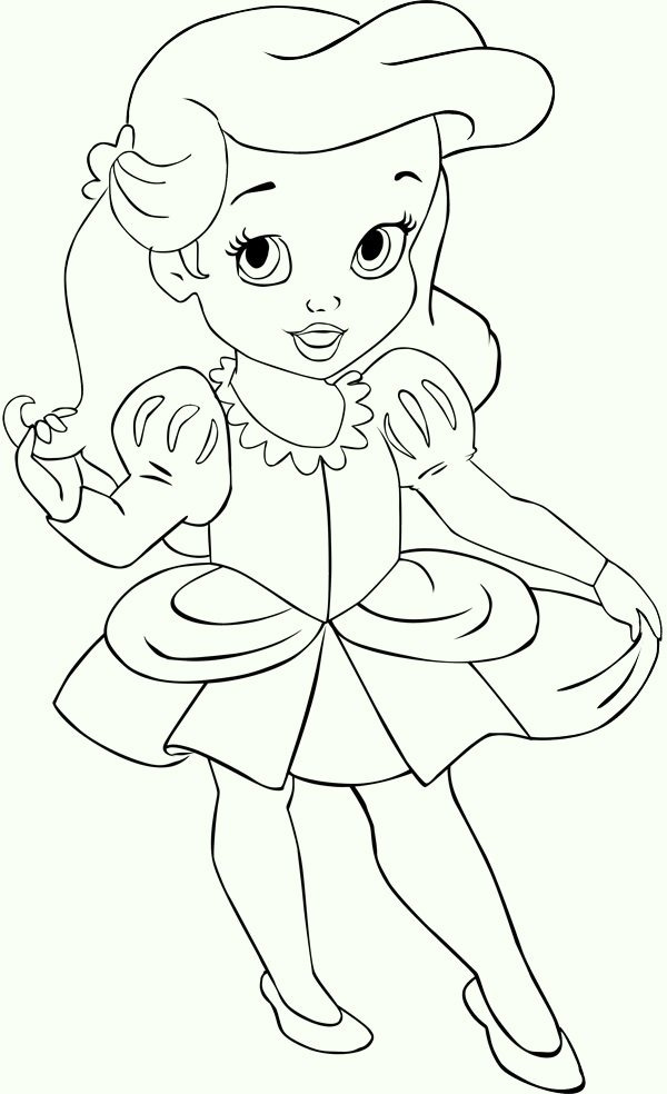 Kids Ariel The Little Mermaid Coloring Pages Disney Princess Baby Ariel Coloring Pages