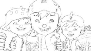 Printable Boboiboy Coloring Pages For Kids 300x169