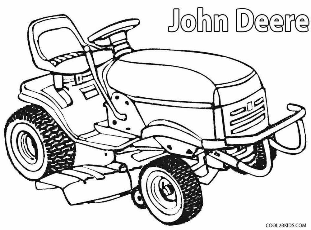 Farm-machinery-John-Deere-Lawn-Mower-Coloring-book-to-print