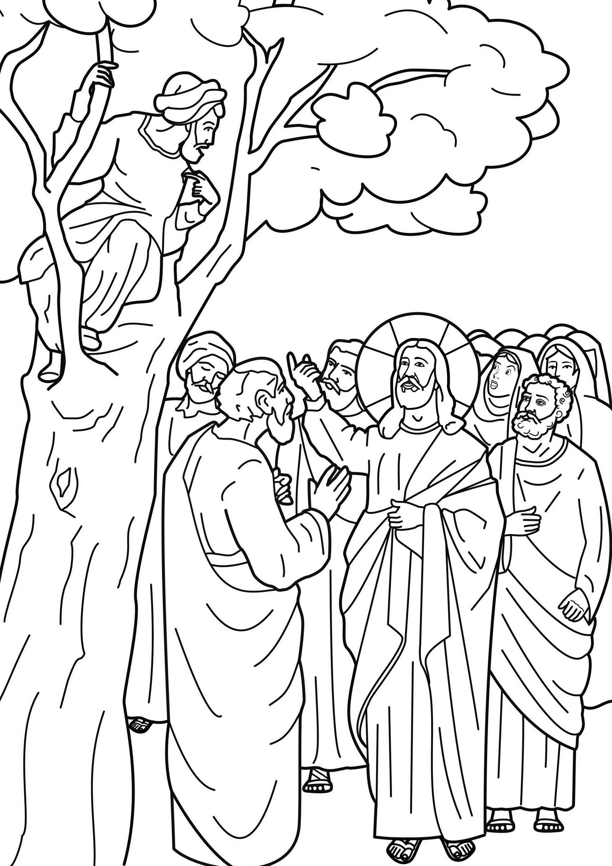 Jesus-calls-Zacchaeus-coloring-sheet