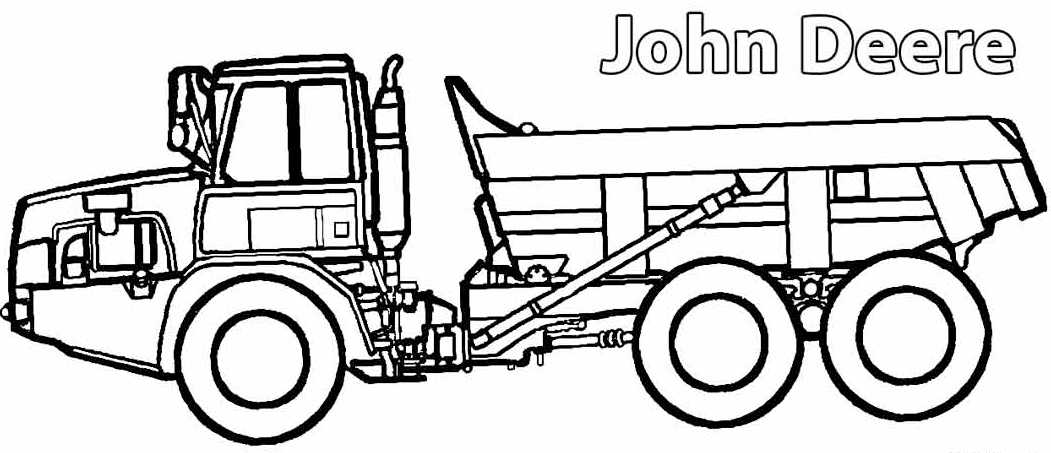 Coloring pages of farm equipment ~ John-Deere-Farm-Machinery-Coloring-Picture