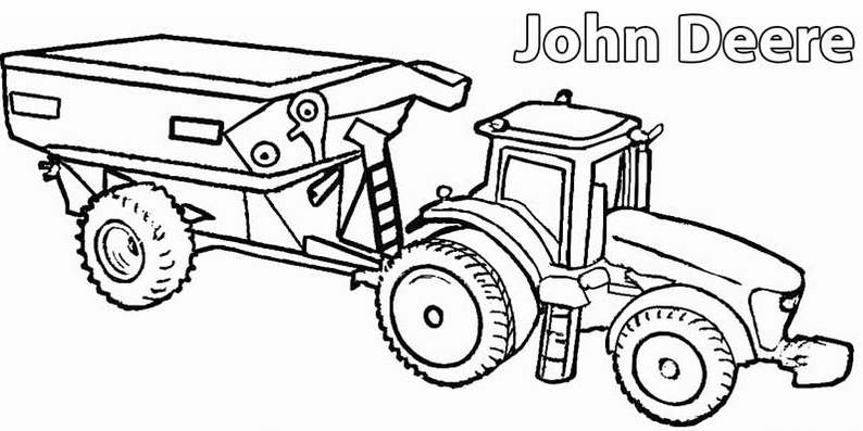 farm machinery coloring page coloring pages - Coloring Pages Farm