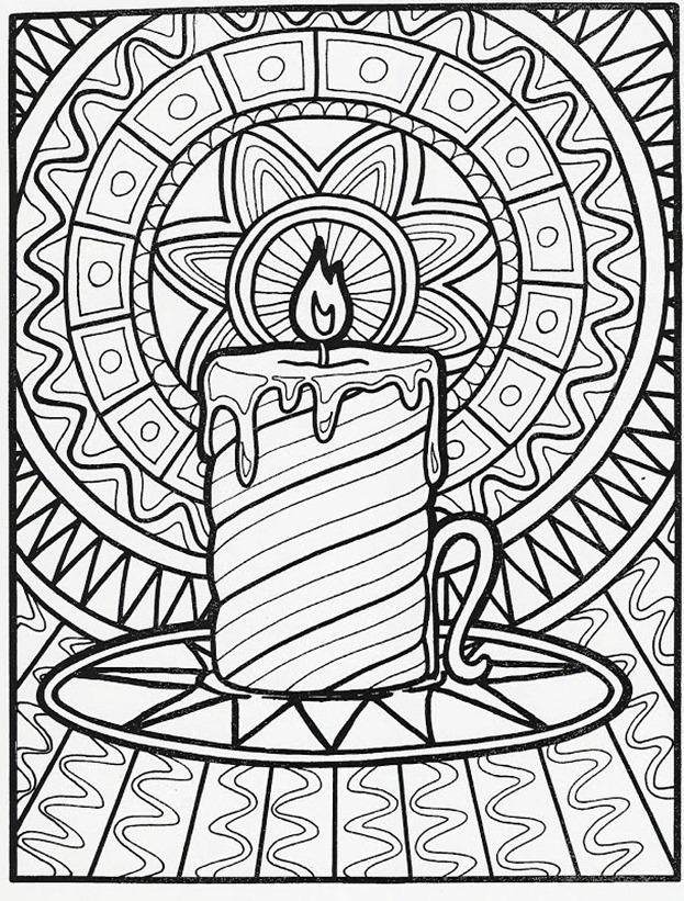 Printable-advent-wreath-Coloring-Page