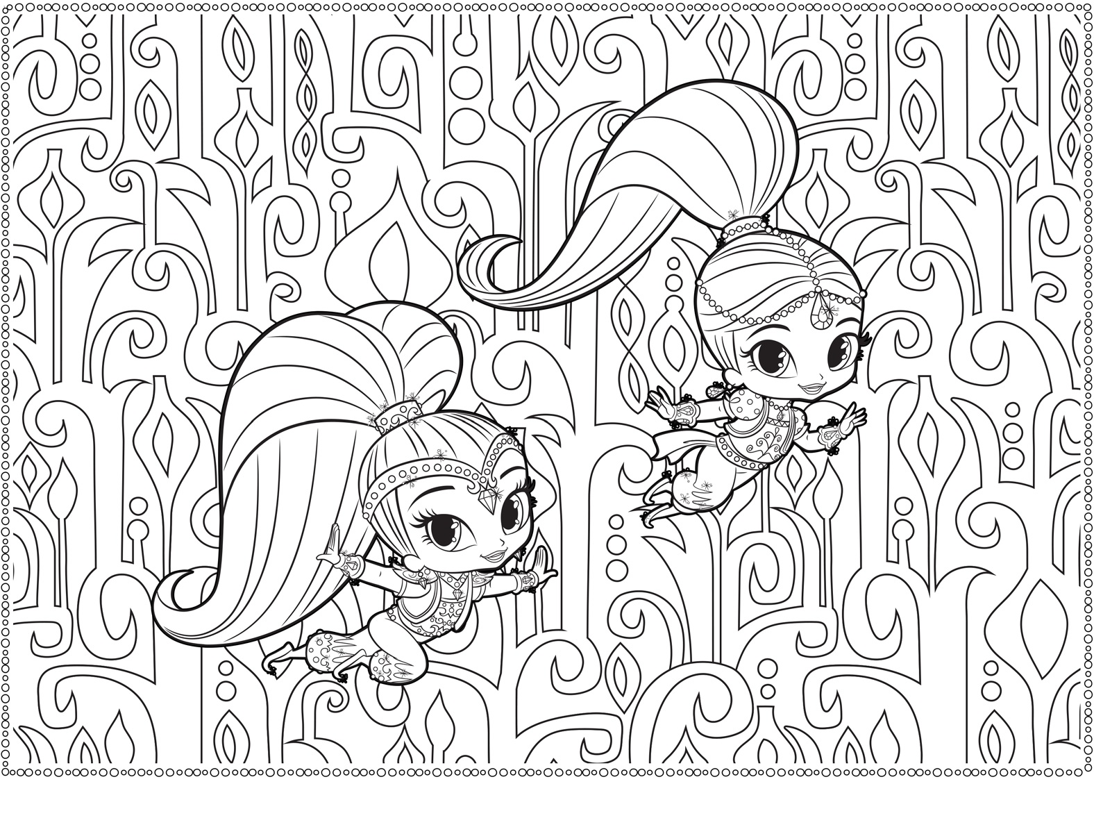 top 14 shimmer and shine coloring pages coloring pages
