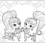 Shimmer-and-Shine-coloring-page-for-adults
