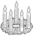 Advent Wreath Coloring Page for Your Little One
