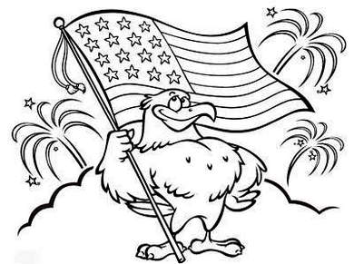 eagle-and-flag-4th-july-coloring-page