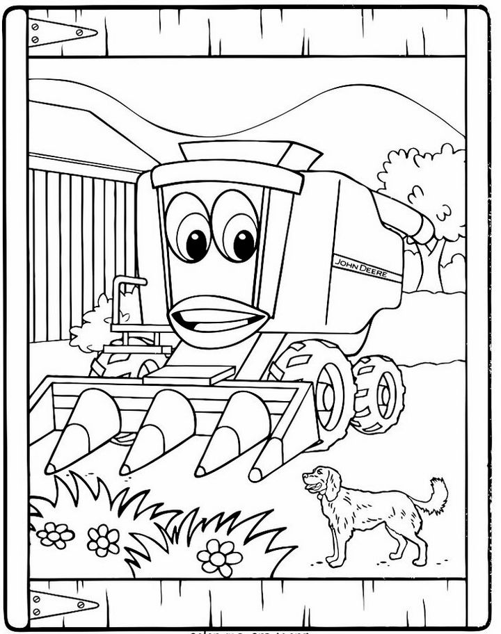 farm equipment coloring pages - farm machinery coloring page for kids