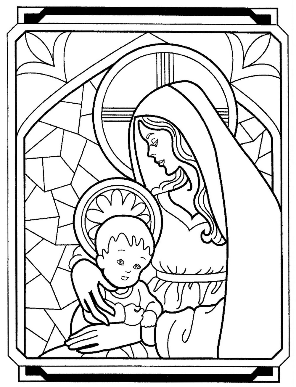 Printable virgin mary coloring pages ~ mother-mary-coloring-books