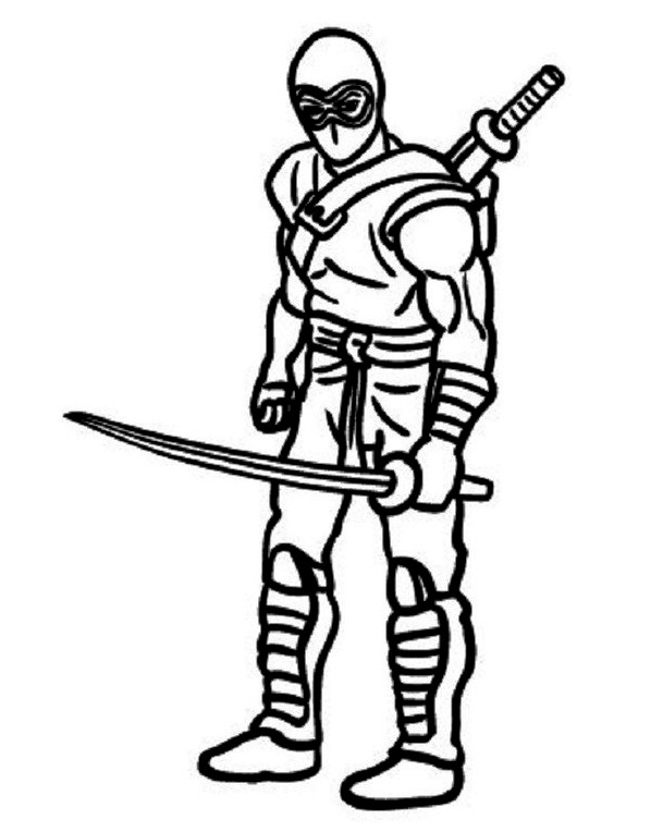 Ninja coloring page to print for Coloring pages of ninjas