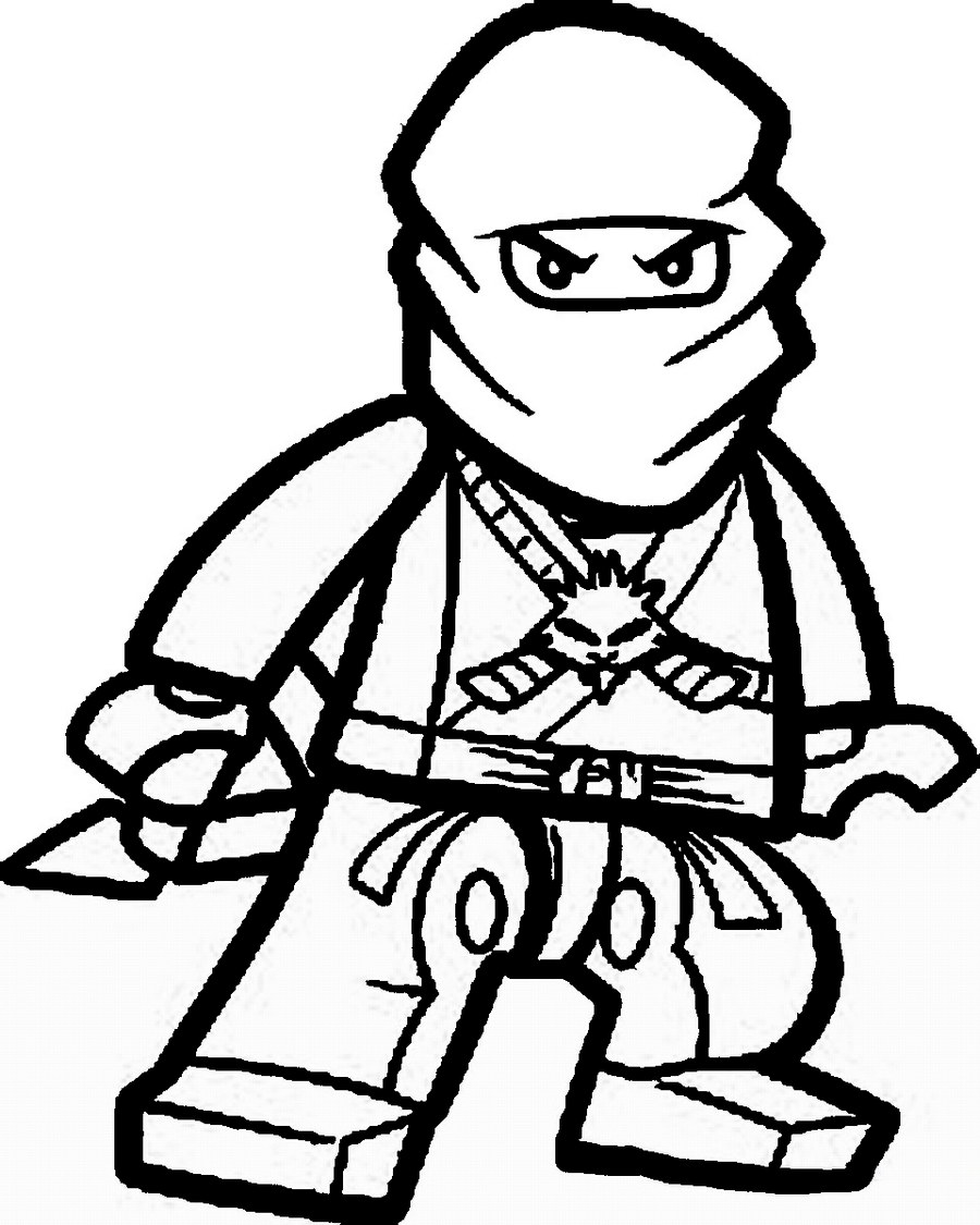 ninja warrior coloring sheet printable