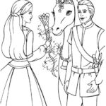 Barbie-princess-and-horse-coloring-book