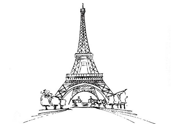 Eiffel-Tower-and-the-view-coloring-page