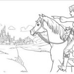 Princess-Barbie_and_Horse_go_to_castle_Coloring_Book
