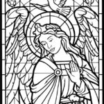 angel-stained-glass-window-coloring-pages