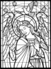 The Top 11 Christmas Stained Glass Coloring Pages