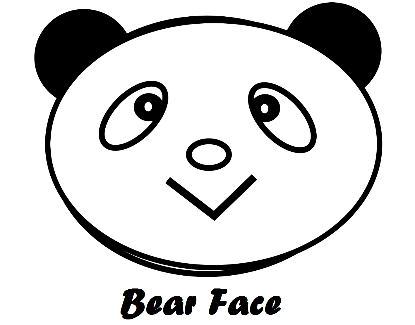 bear-head-face-coloring-book