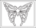 Butterfly Mosaic Coloring Pages