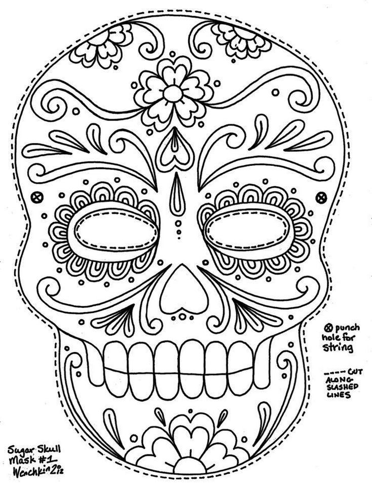 calavera-mask-coloring-sheet