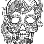 calavera-mask-female-coloring-page