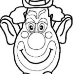 clown-mask-coloring-picture