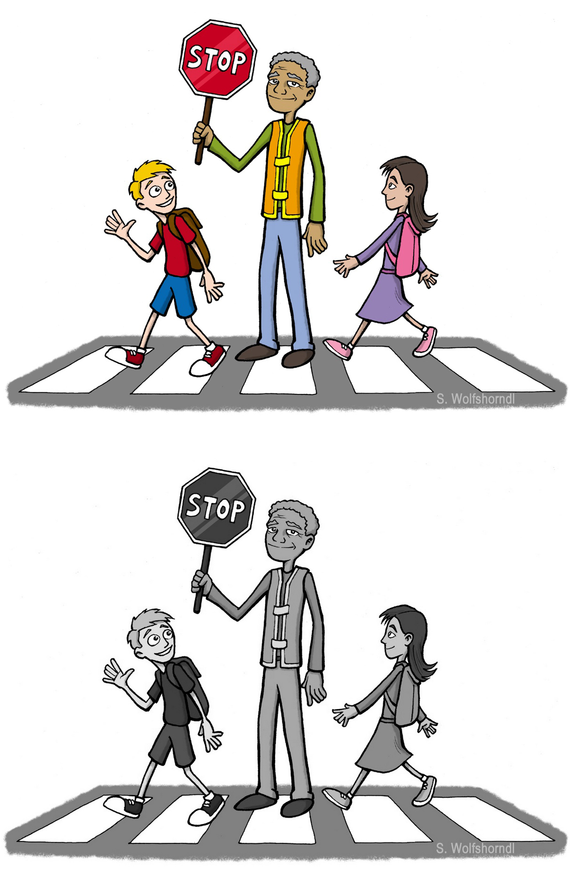 coloring-page-crossing-guard-of-school