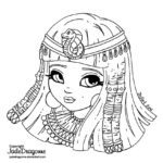 cute-chibi-cleopatra-coloring-page