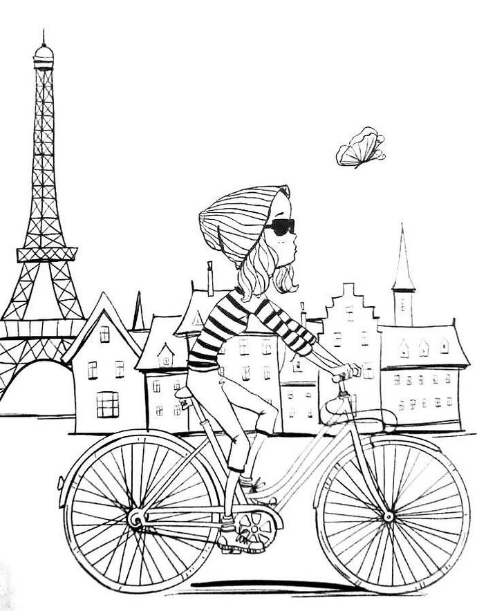 eiffel tower coloring page - eiffel tower paris coloring pages