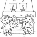 kids-play-christmas-stocking-coloring-pages
