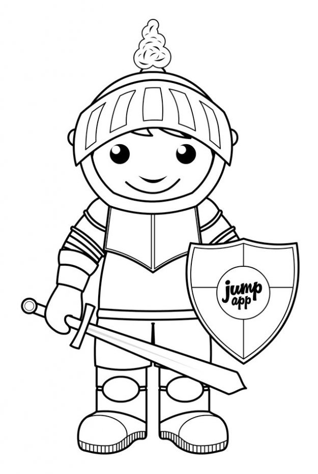 knight-coloring-book