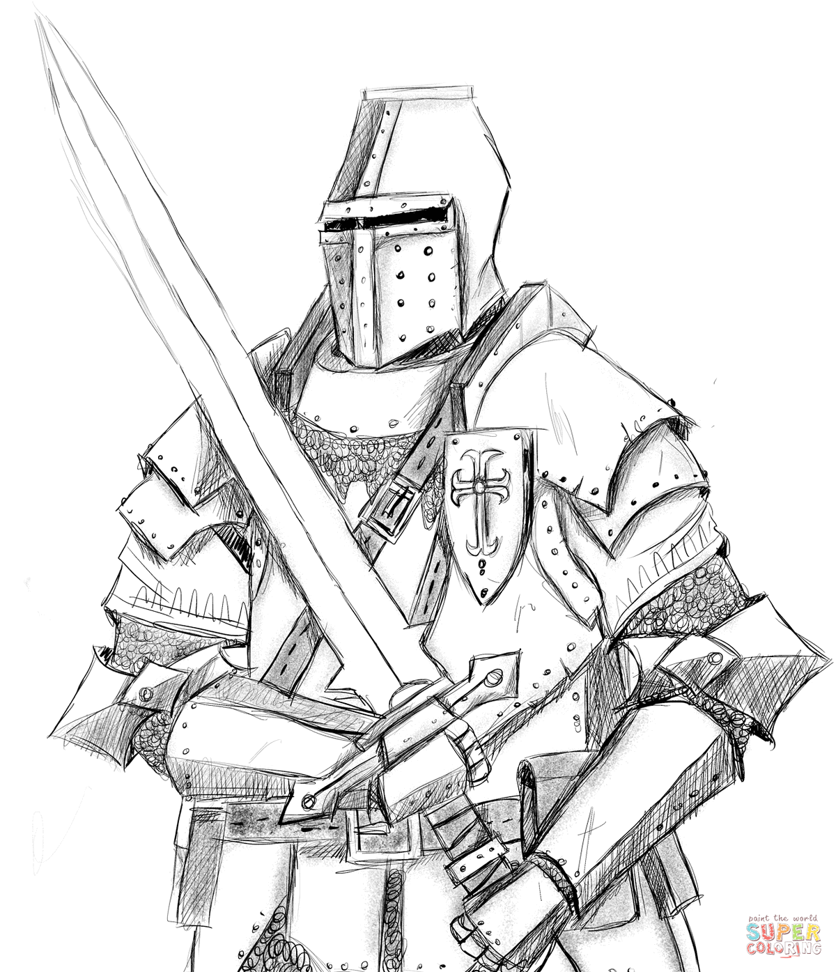 knight-coloring-picture